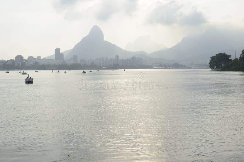 Lagoa lake is the recreational center for brazilians and tourists. Dcemeber 2011 - Rio de Janeiro, Brazil. Lagoa lake is the recreational center for brazilians stock image