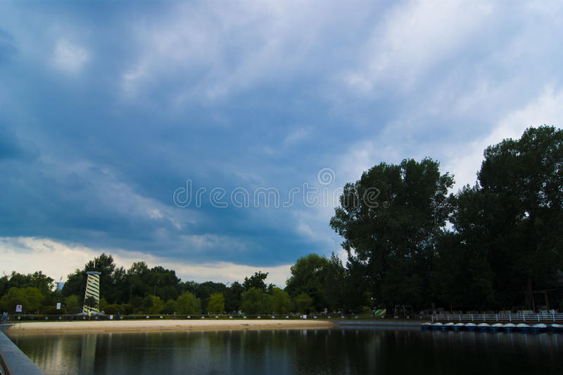 Lagoa misteriosa fotografia de stock royalty free