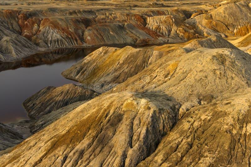 Lagoa no deserto fotografia de stock royalty free