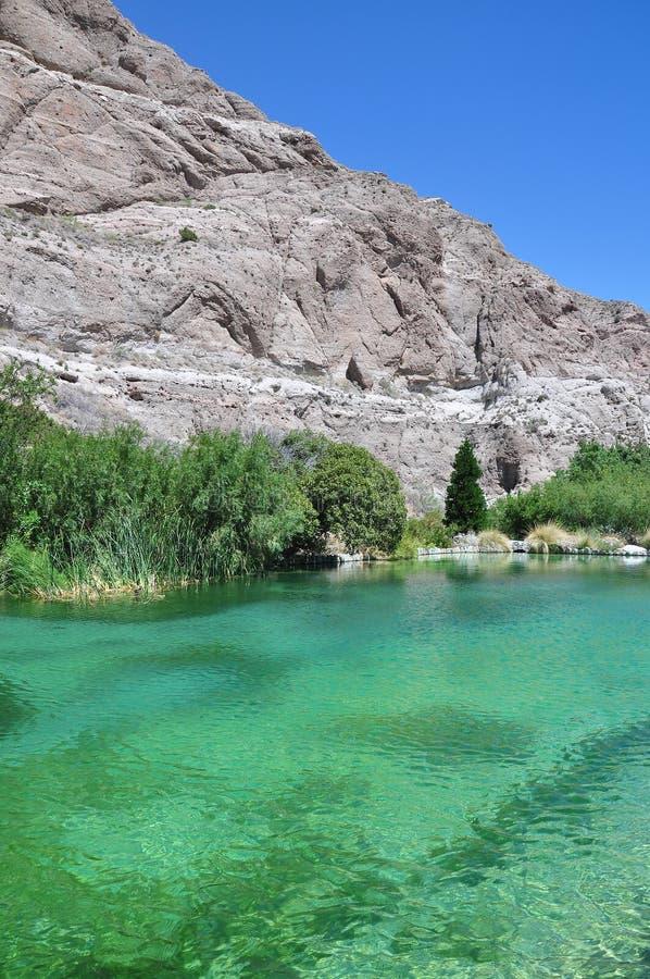 Lagoa no deserto imagem de stock royalty free