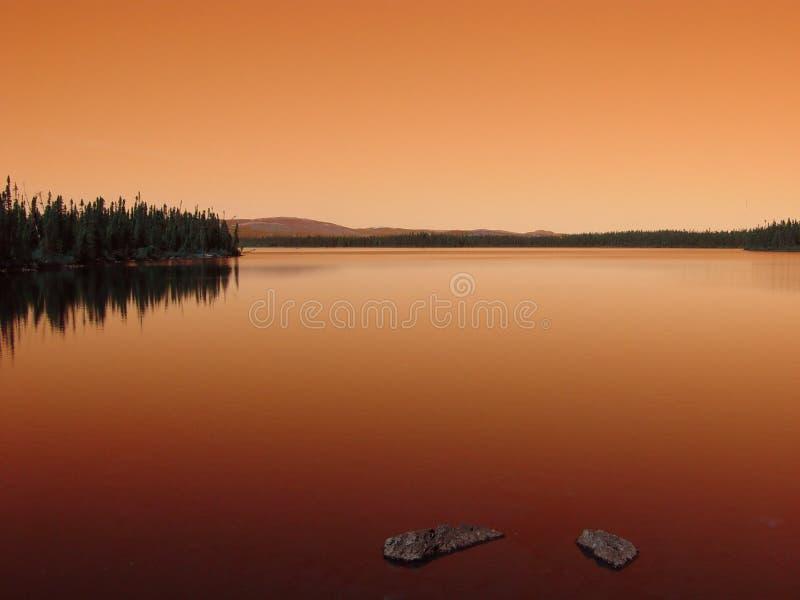 Lagoa No Por Do Sol Fotos de Stock