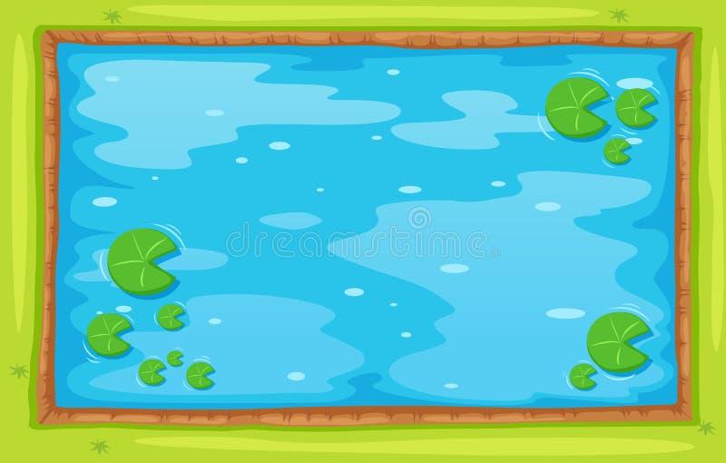 Lagoa pequena da vista superior ilustração do vetor