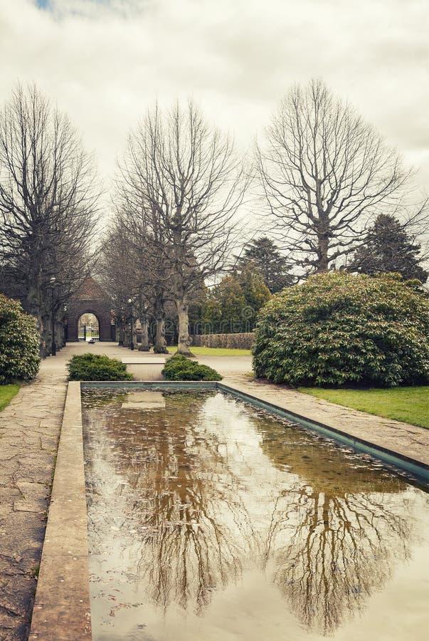 Lagoa pequena do parque fotos de stock royalty free