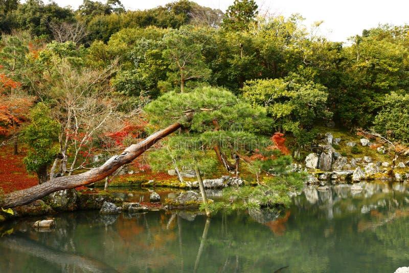 A lagoa principal em Tenryu-ji imagens de stock royalty free