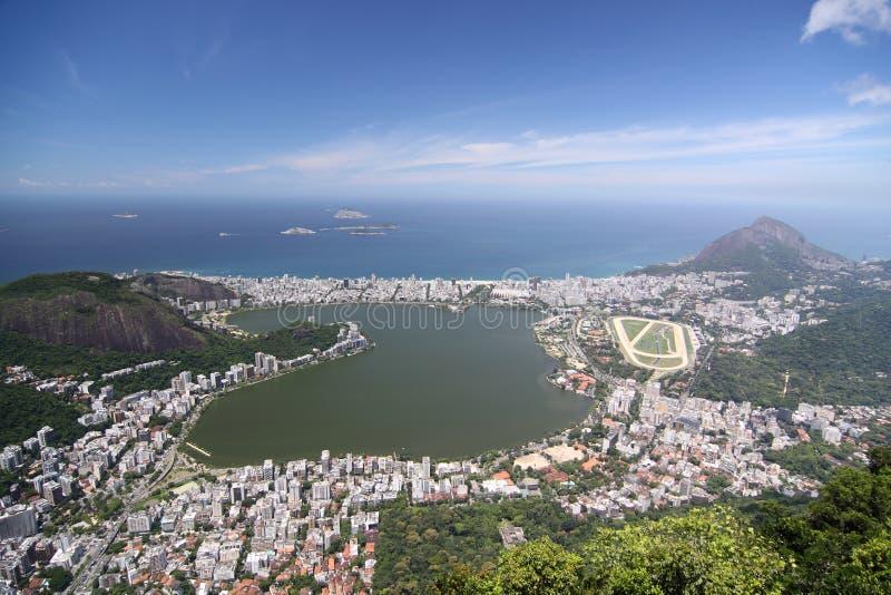 Lagoa Rodrigo de Freitas dans Rio de Janeiro photo libre de droits