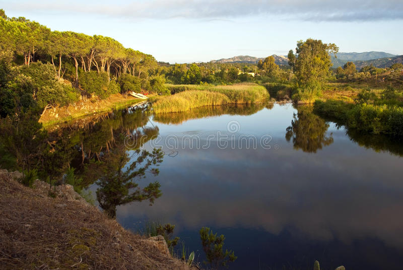 Lagoa - Sardinia imagem de stock royalty free