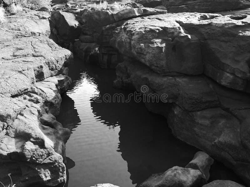 Lagoa secreta fotografia de stock royalty free