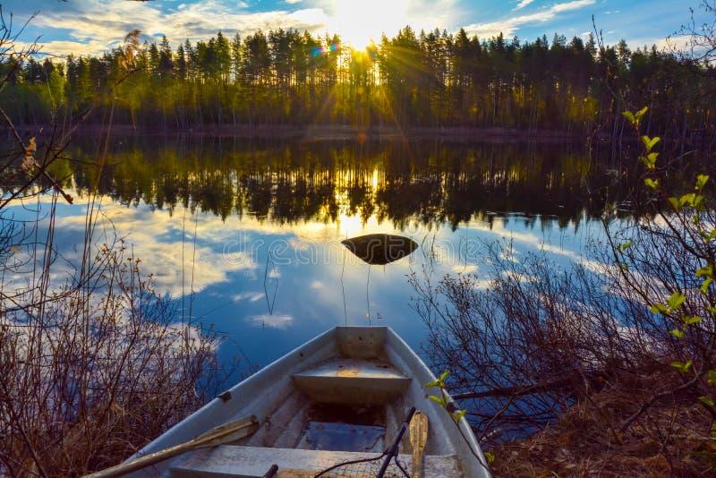 Lagoa sul da calma de Savo Finland imagem de stock