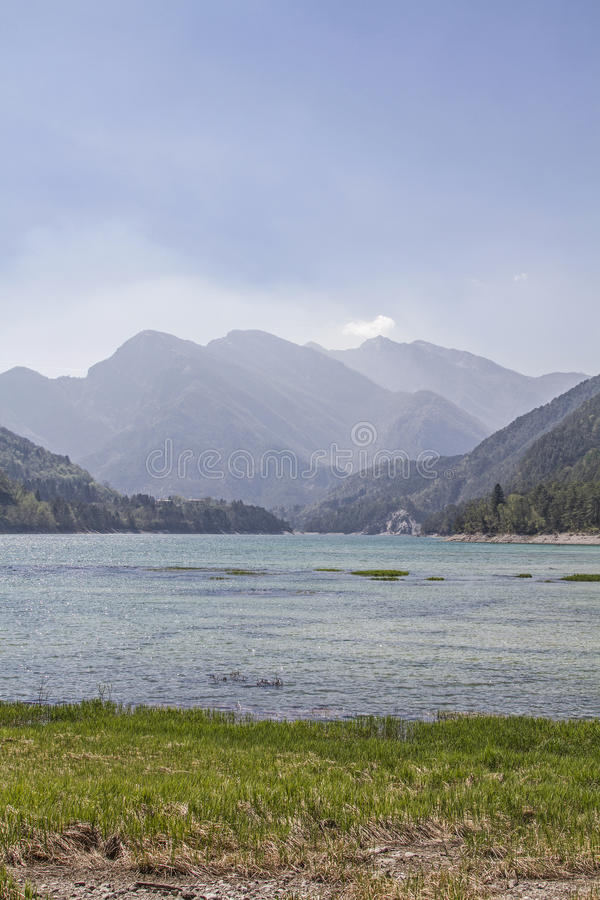 Lagodei Tramonti in Friuli stock fotografie