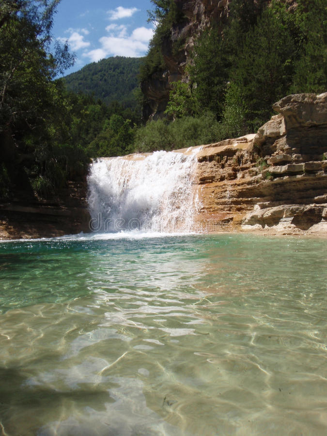 Lagoon at Bergua stock images