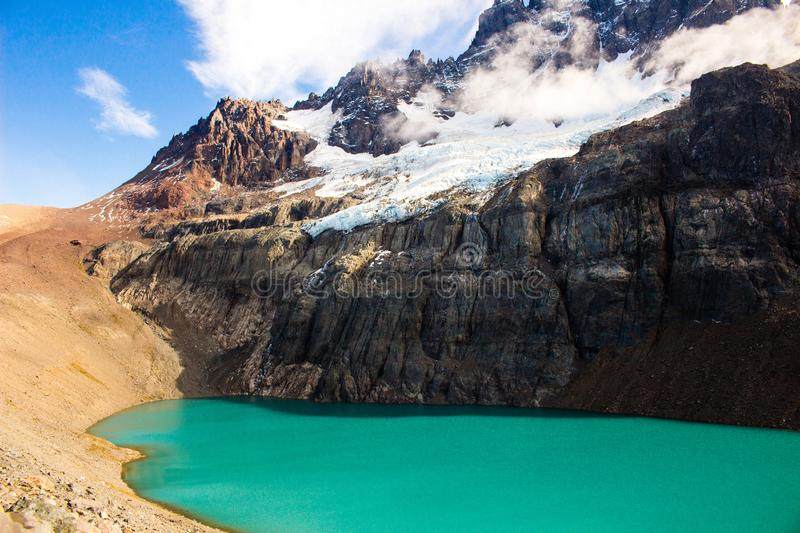 Lagoon in Cerro Castillo Austral Road royalty free stock image