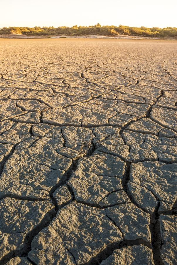 Lagoon dry soil, Patagonia, Argentina stock images