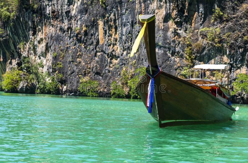 Lagoon of Koh Hong island. Krabi, Thailand royalty free stock images