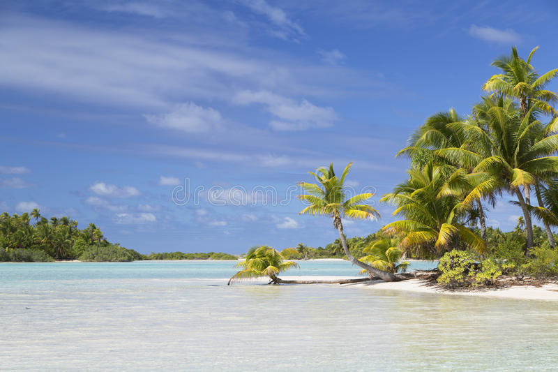 Lagoon at Les Sables Roses (Pink Sands), Tetamanu, Fakarava, Tuamotu Islands, French Polynesia. Vie of lagoon at Les Sables Roses (Pink Sands), Tetamanu royalty free stock images