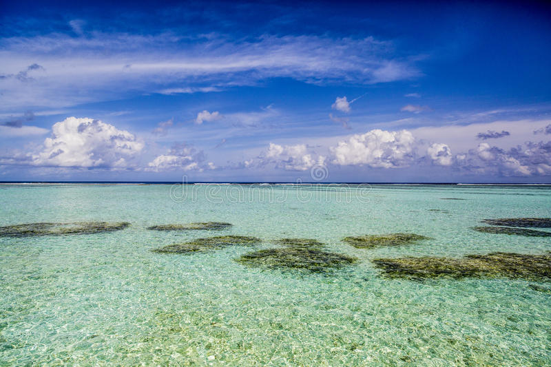 Download Lagoon in Maldives stock image. Image of turquoise, beach - 75984417