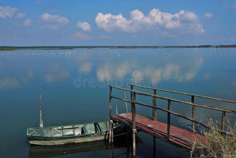The lagoon of the The Pialassa della Baiona stock images