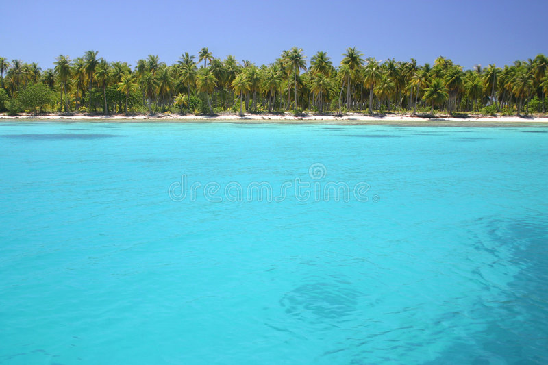 Download Lagoon Rangiroa stock image. Image of resort, beauty, caribbean - 5233201