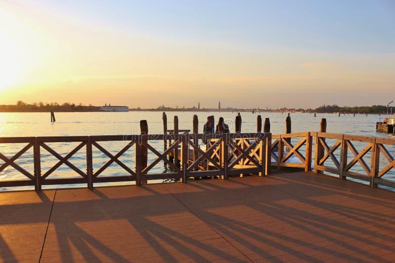 The lagoon of Venice, Italy. stock image