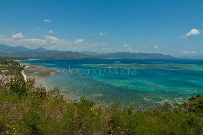 Lagoone 17 Eilanden Riung Flores Indonesië van het Cristal Duidelijke Water stock afbeeldingen