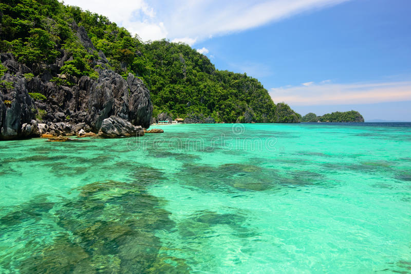 Lagoons and Rocks of Coron Island, Philippines royalty free stock image