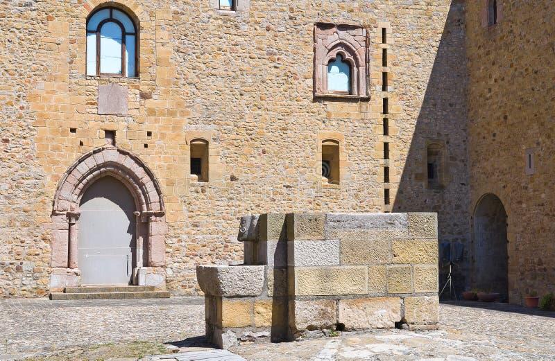 Lagopesole Castle. Basilicata. Italy. Perspective of the Lagopesole Castle. Basilicata. Italy stock images
