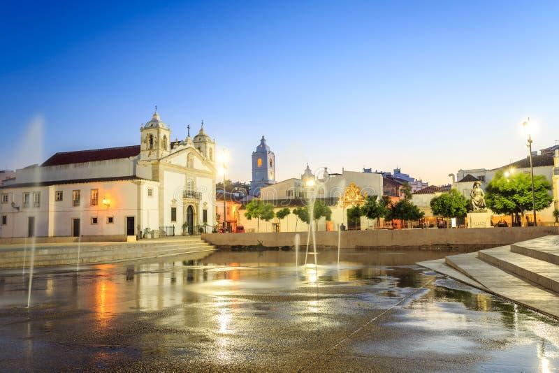 Download Lagos Centrum, Algarve, Portugal Fotografering för Bildbyråer - Bild av reflexion, berömdt: 78725753