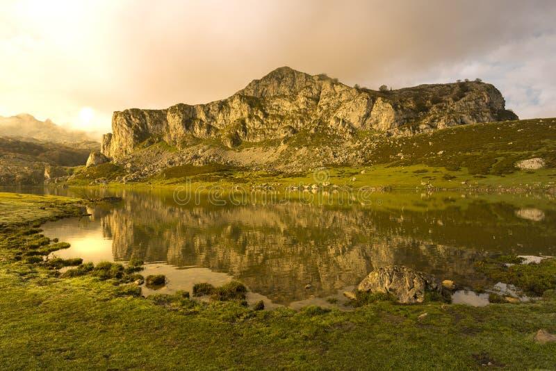 Lagos de Covadonga foto de archivo