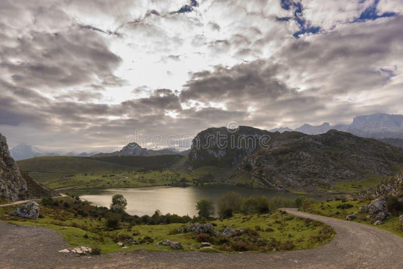 Lagos de Covadonga imagem de stock royalty free