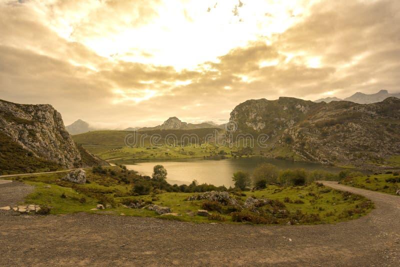 Lagos de Covadonga imagen de archivo libre de regalías