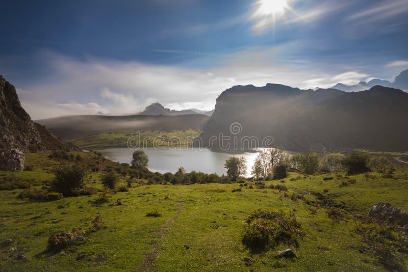 Lagos de Covadonga foto de archivo libre de regalías