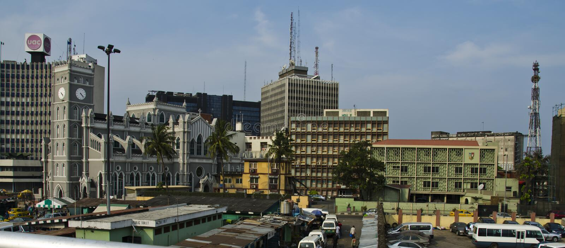 Lagos du centre photographie stock