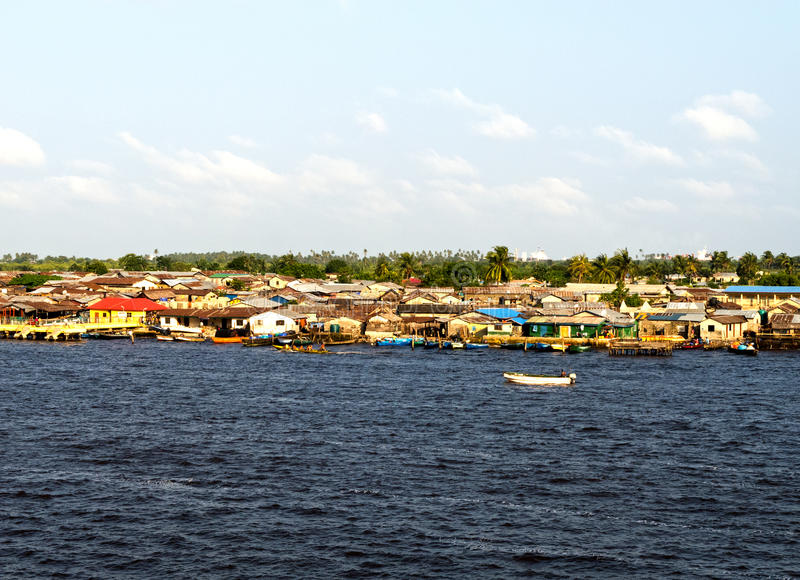 Lagos-Fluss lizenzfreie stockbilder
