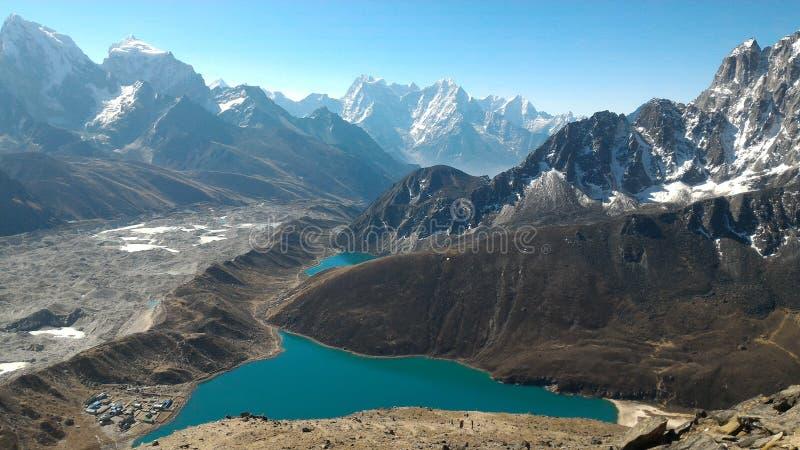 Lagos Gokyo, Nepal foto de archivo libre de regalías
