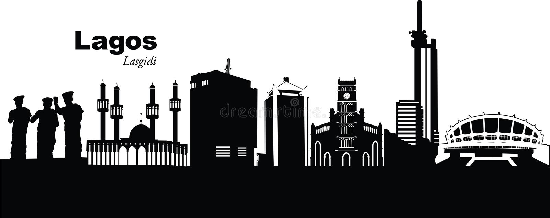 Lagos, Nigéria ilustração stock