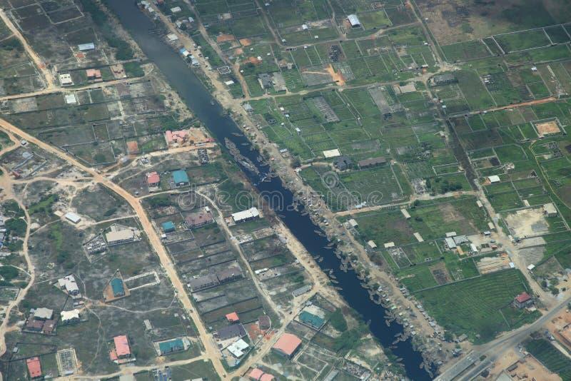 lagos nigeria flod royaltyfria bilder