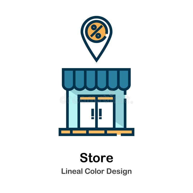 Lagra den direkta färgsymbolen stock illustrationer