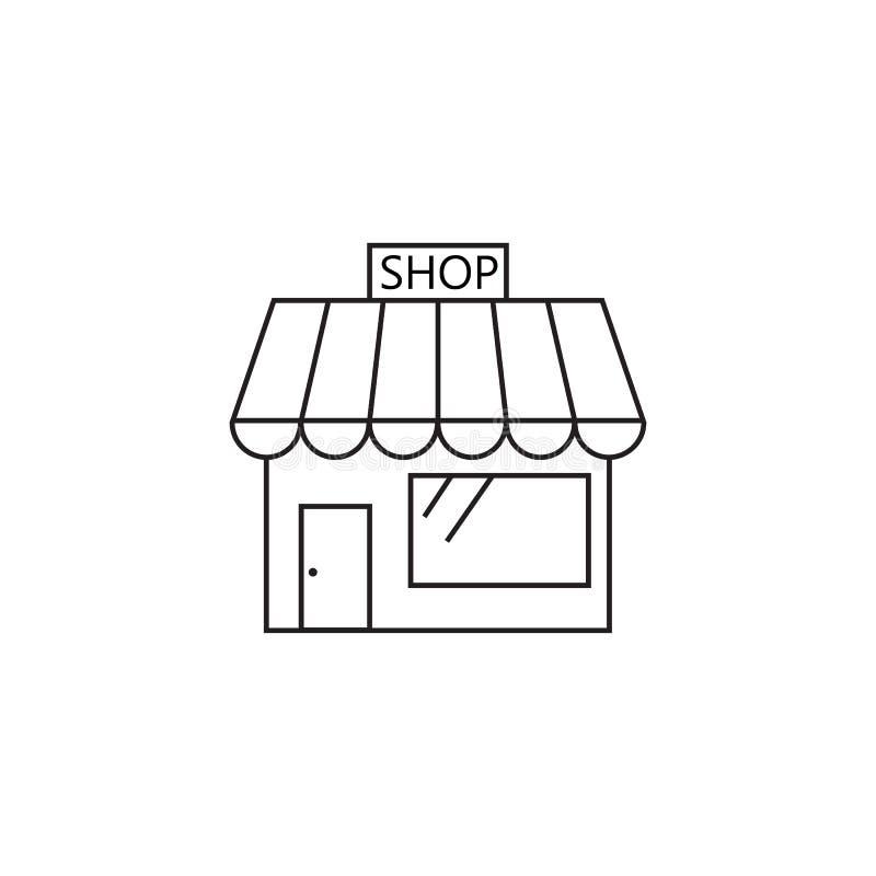 Lagra linjen symbolen, illustrationen för logoen för marknadsöversiktsvektorn som är linjär stock illustrationer