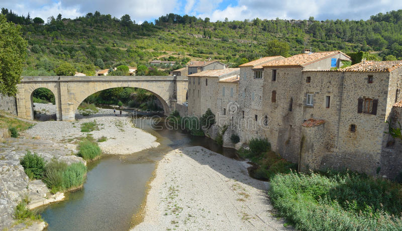 Lagrasse Aude Languedoc - el Rosellón Francia imágenes de archivo libres de regalías