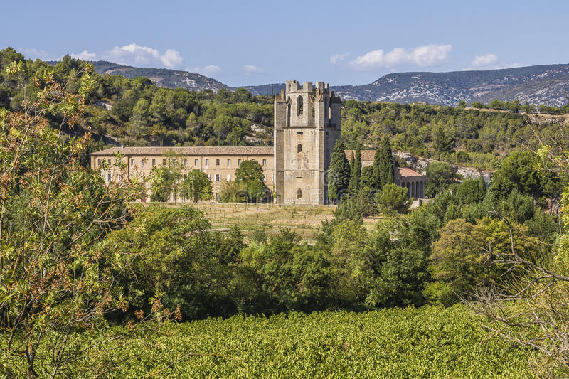 Lagrasse, Francia imagen de archivo libre de regalías
