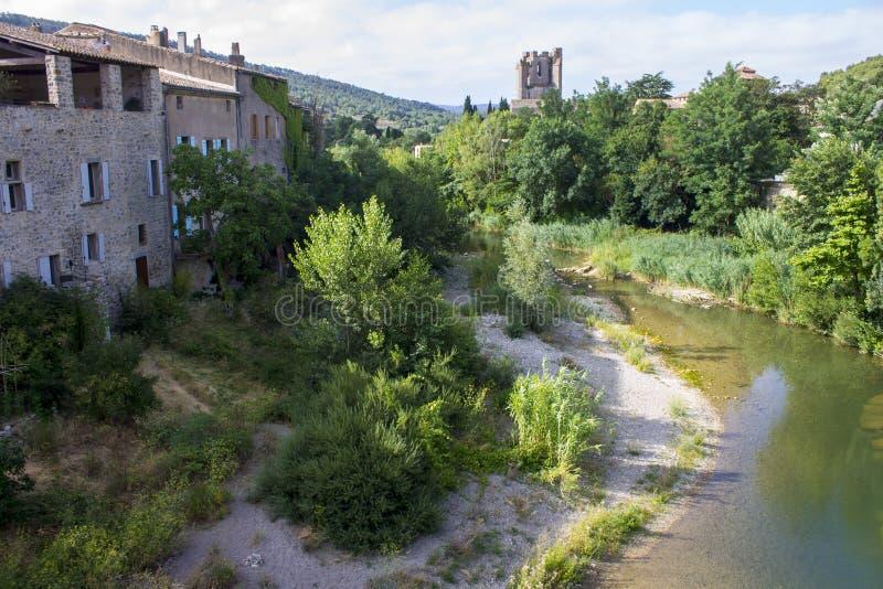 Lagrasse, Frankreich stockfoto