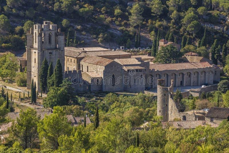 Lagrasse, Frankreich stockbild
