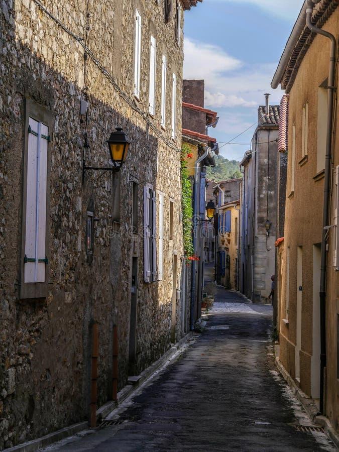 Lagrasse Languedoc-Roussillon, Frankreich lizenzfreie stockfotografie
