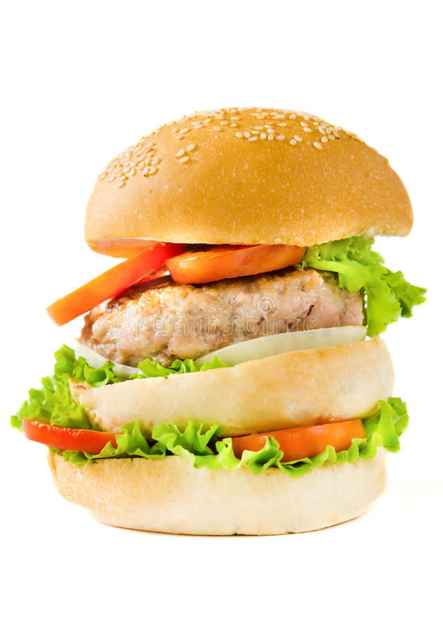 Lagre hamburger obraz royalty free