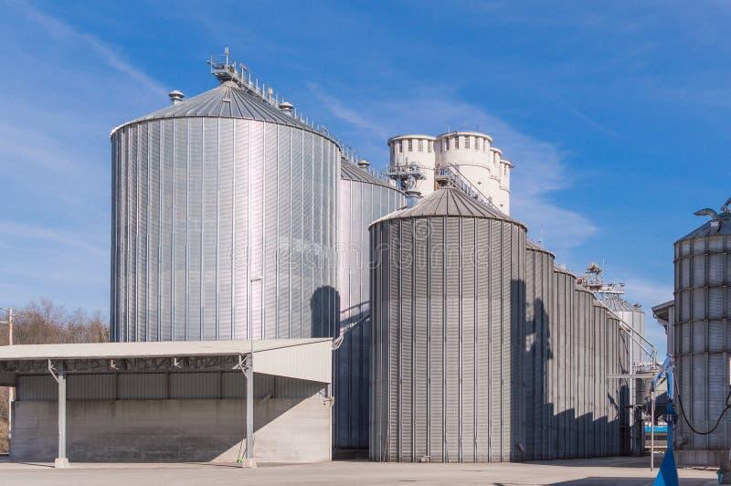 Lagringslätthetssädesslag och bio gasproduktion royaltyfri foto