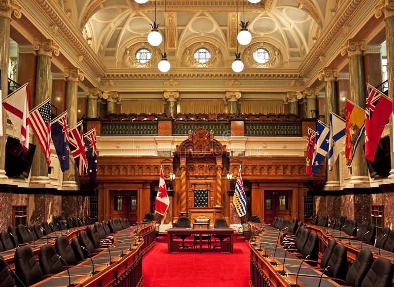 Lagstiftnings- kammare, British Columbia parlament arkivbild