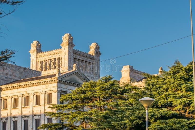 Lagstiftnings- slott av Uruguay i Montevideo royaltyfria foton
