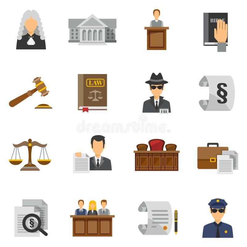 Lagsymboler sänker uppsättningen royaltyfri illustrationer
