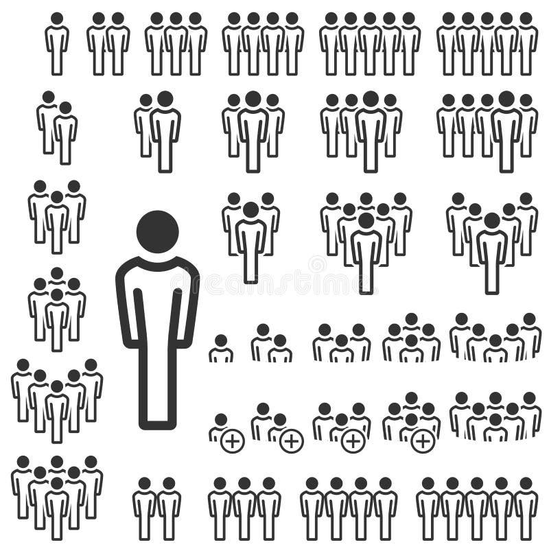 lagsymbolssamling stock illustrationer