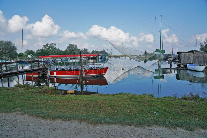 Lagun av den Pialassa dellaen Baiona arkivbilder