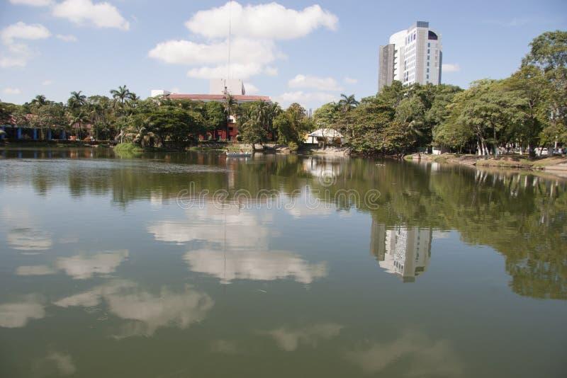 Lagun av illusioner, den canabal tomasgarridoen parkerar Villahermosa, tabascot, Mexico royaltyfri bild